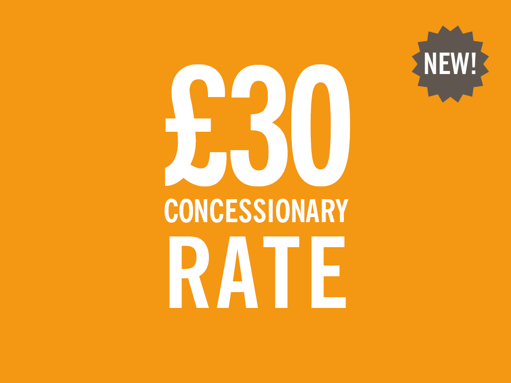 New concessionary rate £30 membership