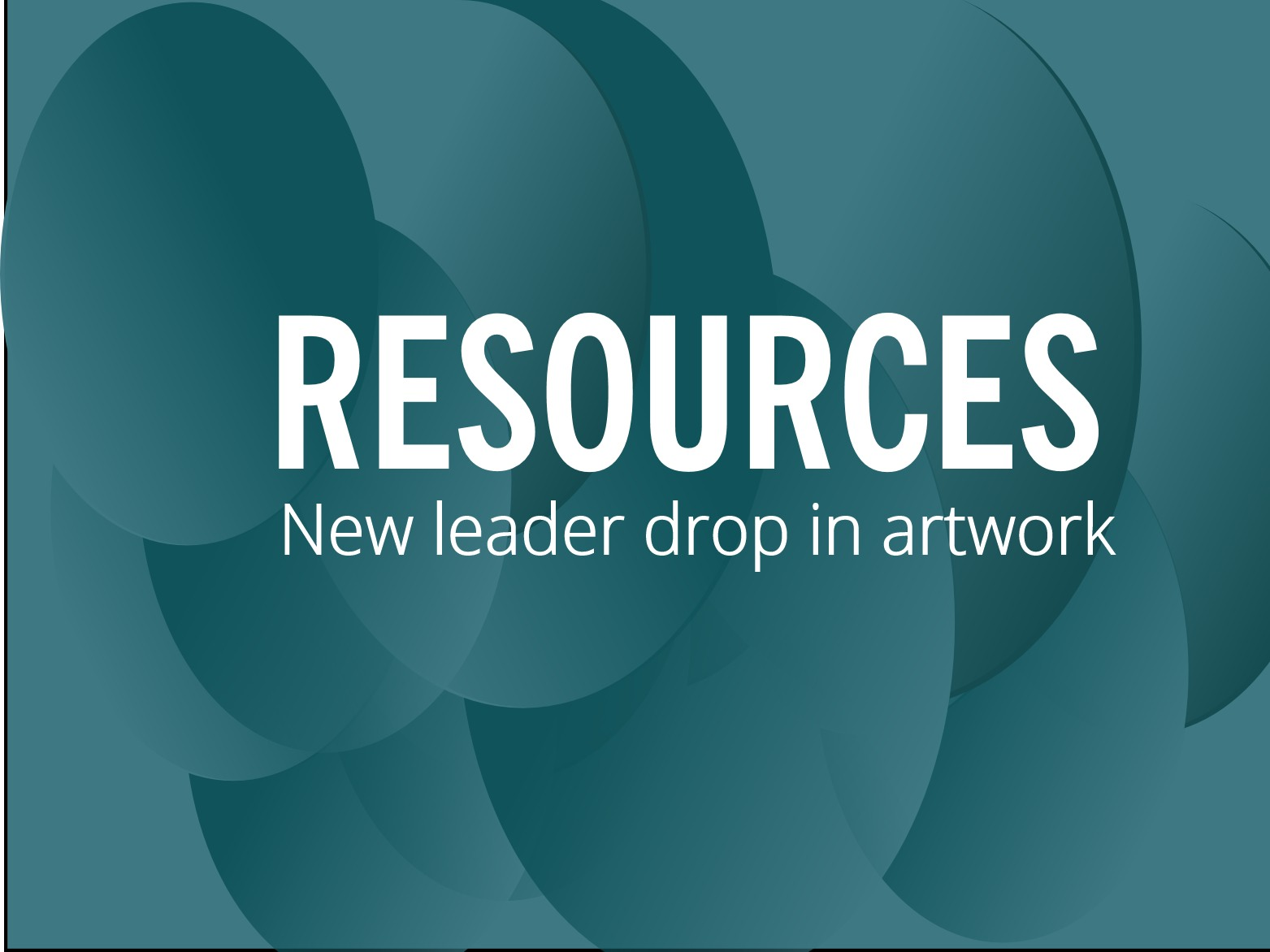 RESOURCES: New leader drop-in artwork