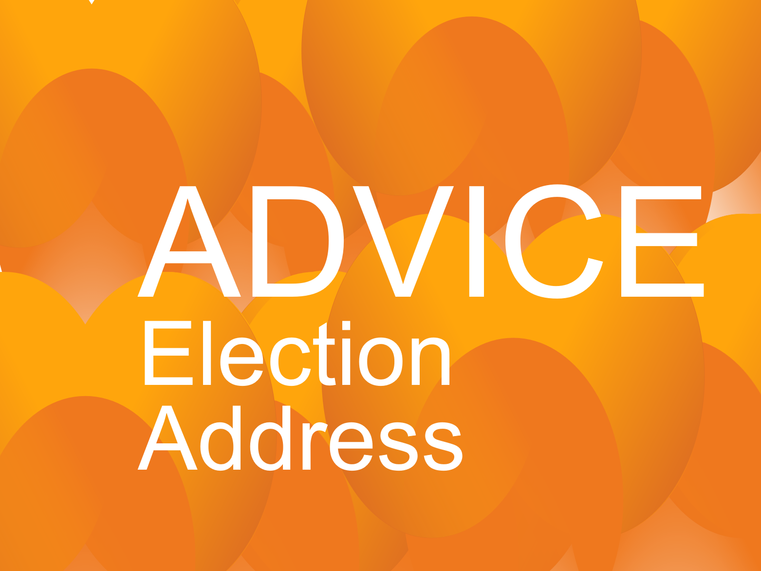 Advice: Election Address and the Royal Mail