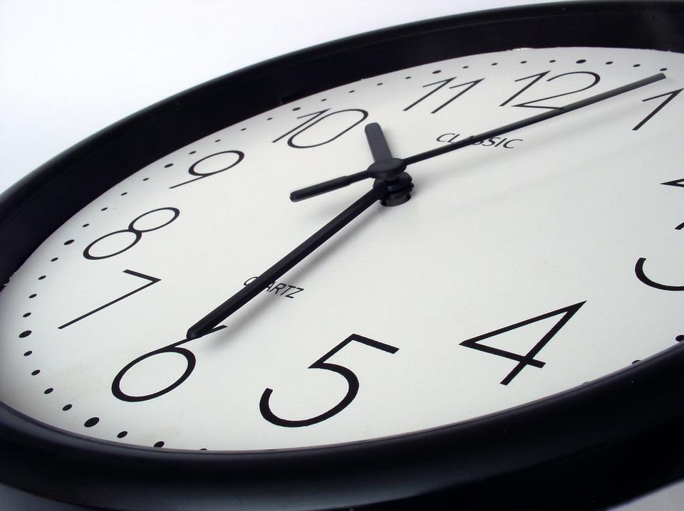 The clocks go back 2019