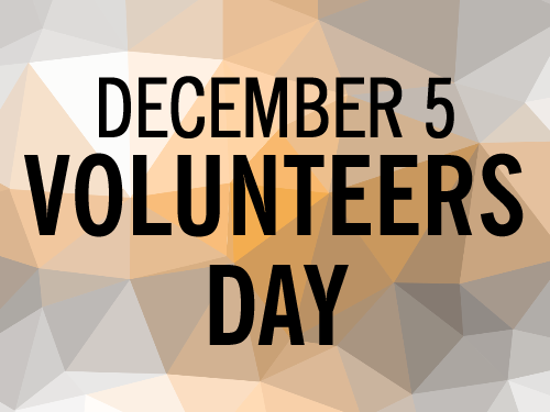 RESOURCES: International Volunteers Day 2019 – December 5
