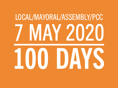 100 DAYS TO POLLING DAY – 7 MAY 2020