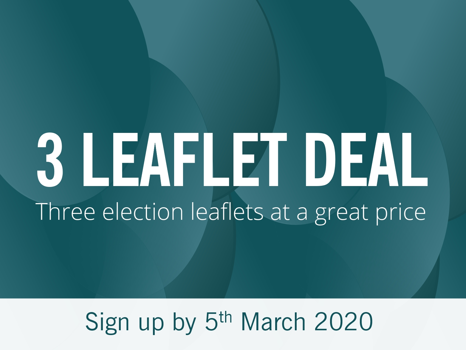 Resources: Three leaflet print deal (Sign up by Thursday 5 March)
