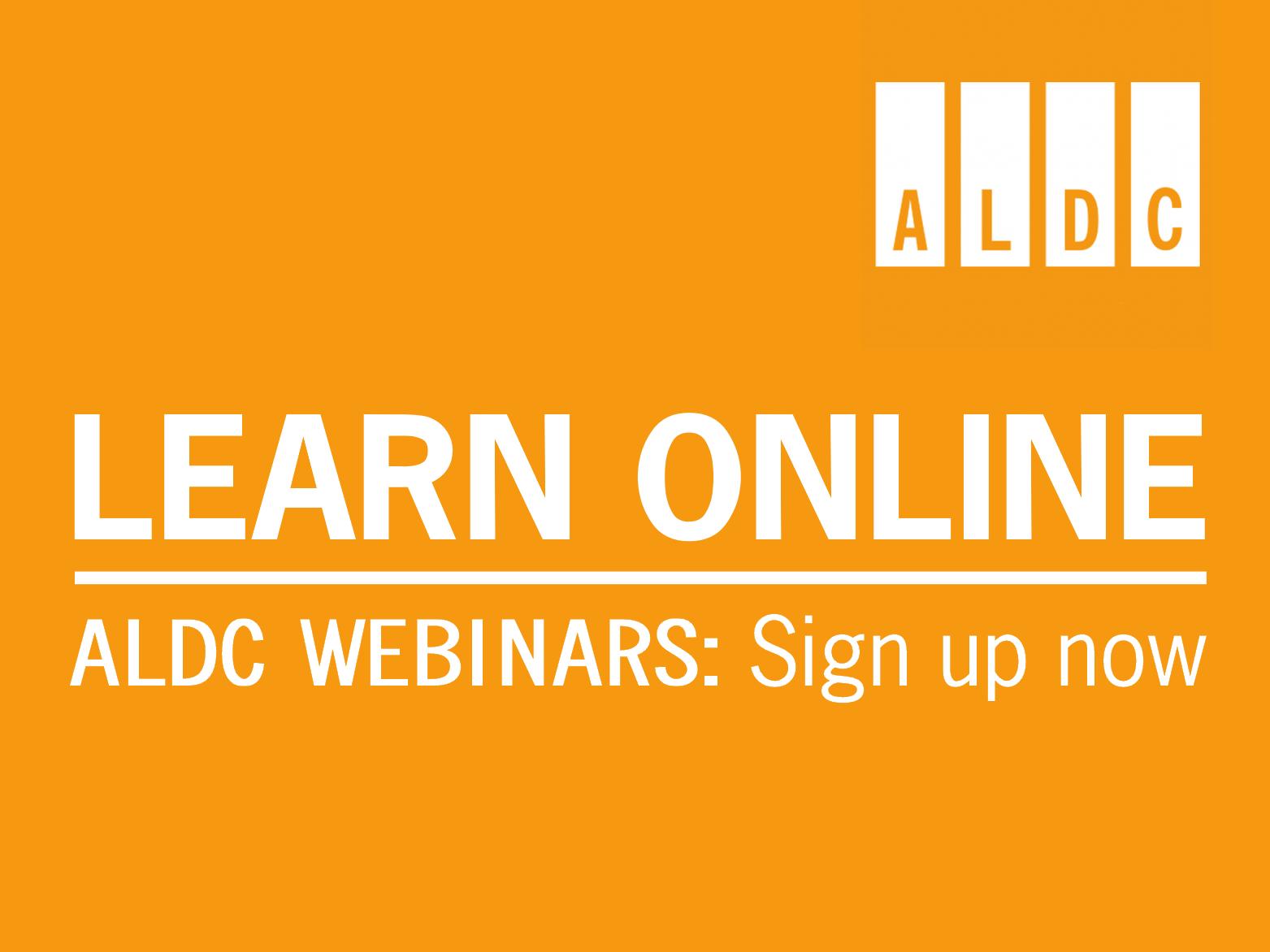 ALDC Webinars – April 2020