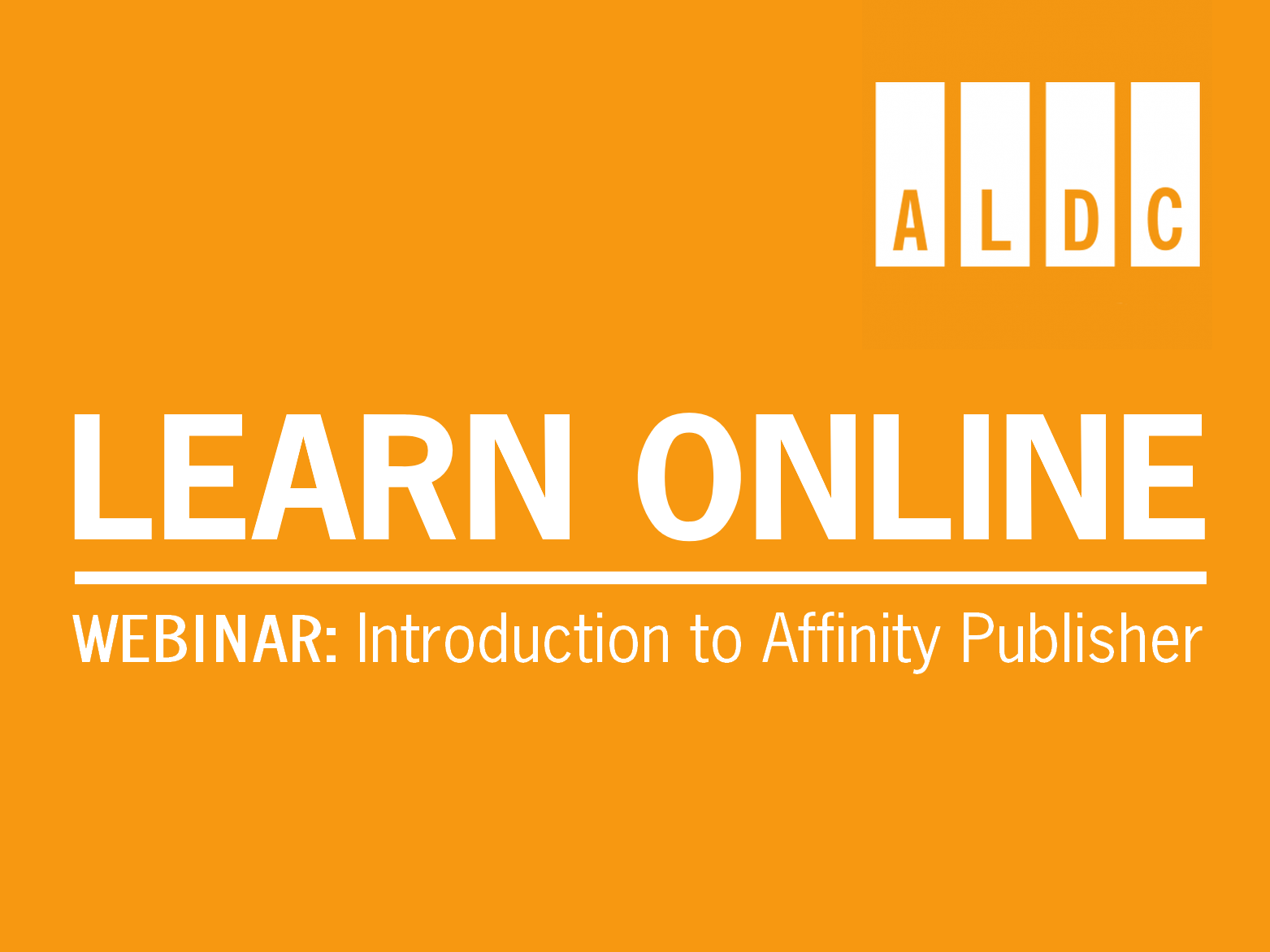 Webinar: Introduction to Affinity – the New PagePlus 17 April 2020