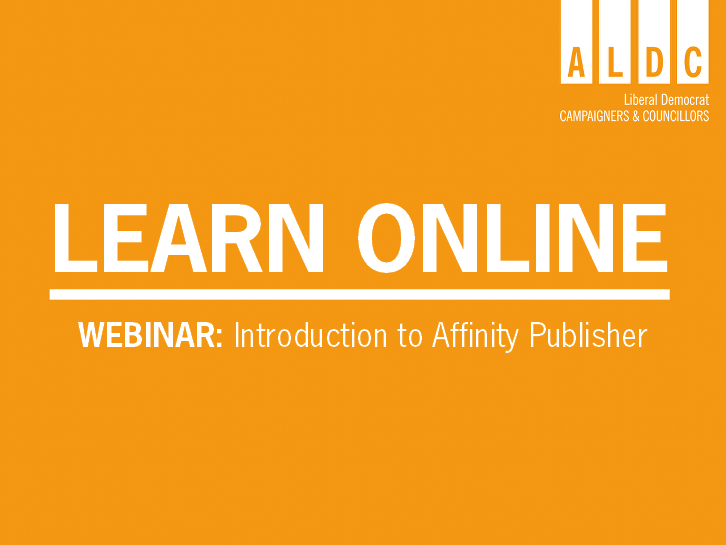 Webinar – Introduction to Affinity Publisher 8 June
