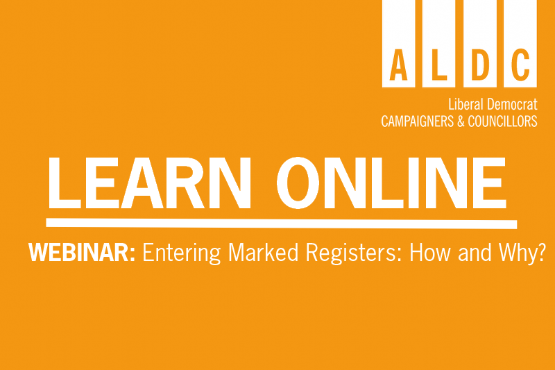 Webinar – Entering Marked Registers Wed 5 August 2020