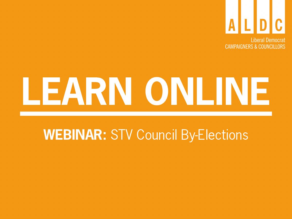 Scottish Webinar – STV Council By-Elections 9 June