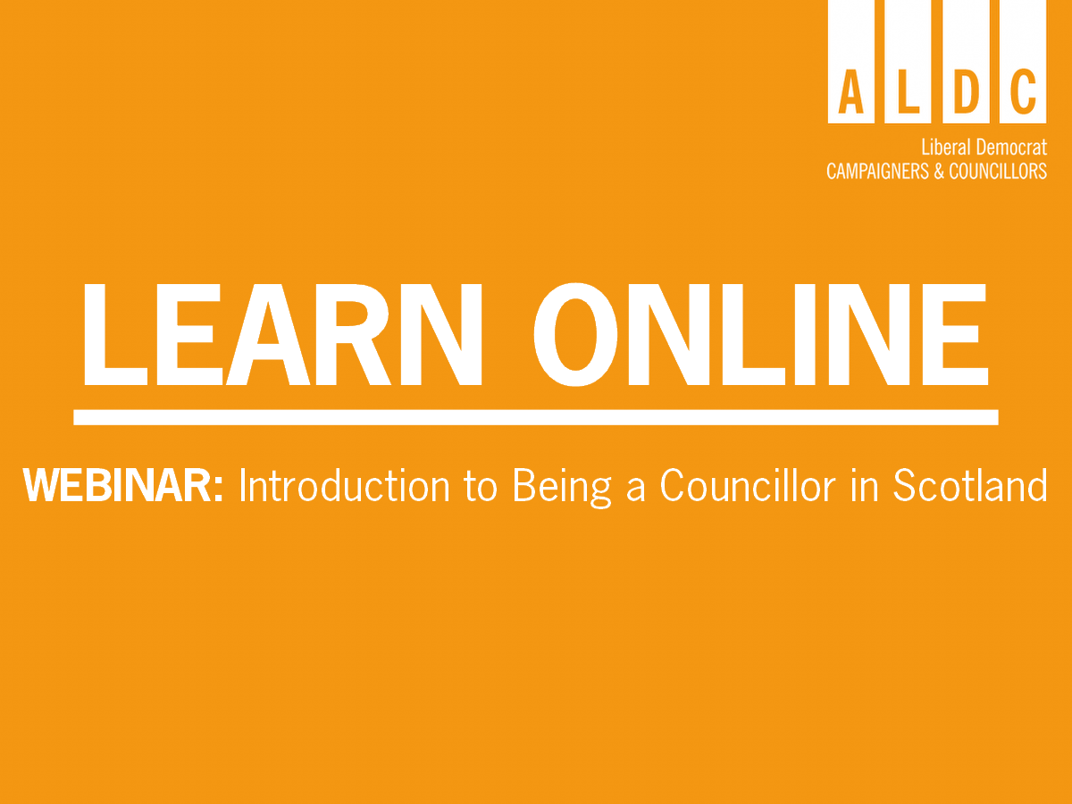 Scottish Webinar – Introduction to Being a Councillor in Scotland