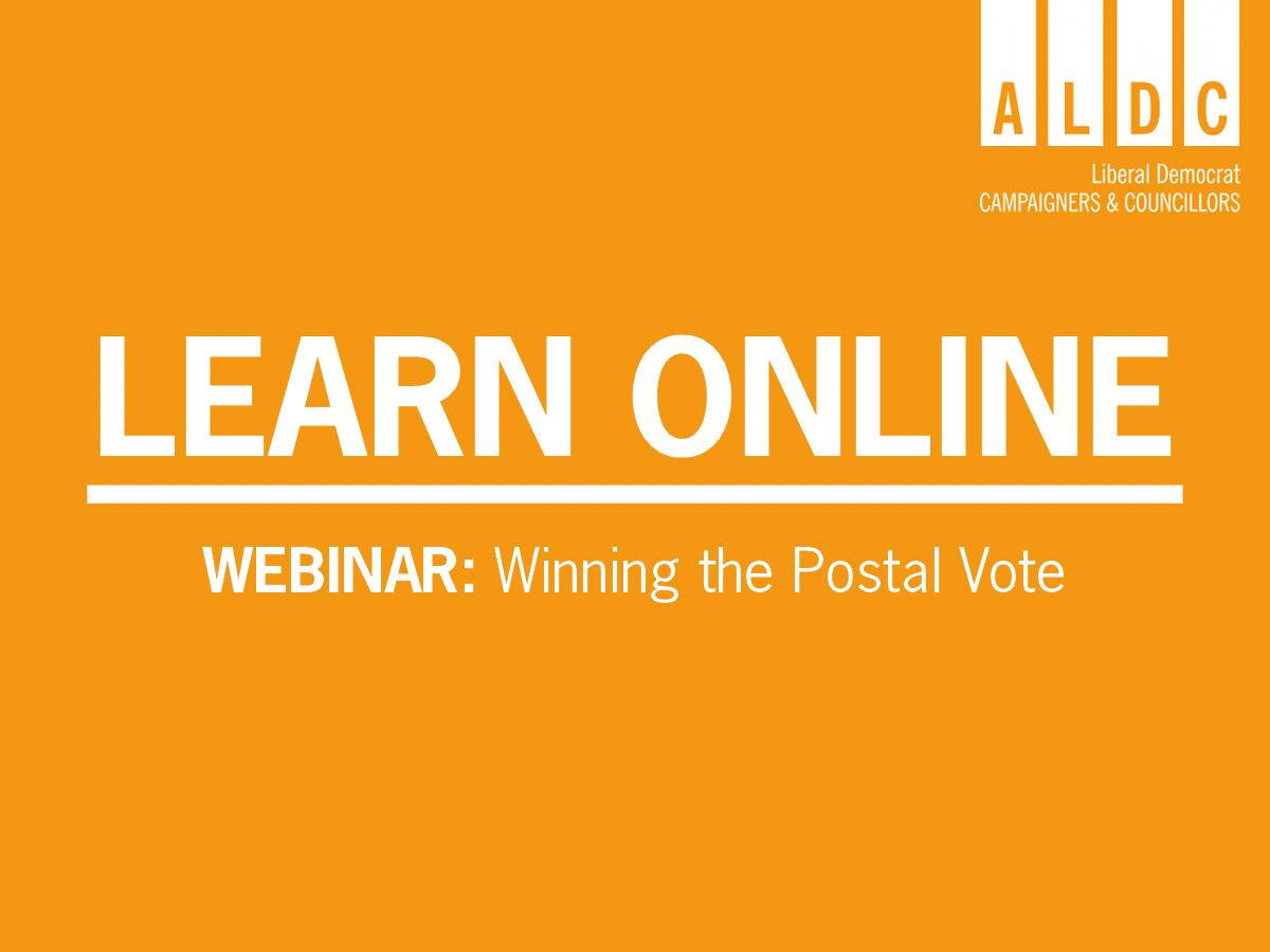 Webinar – Winning the postal vote – Mon 9 November 2020