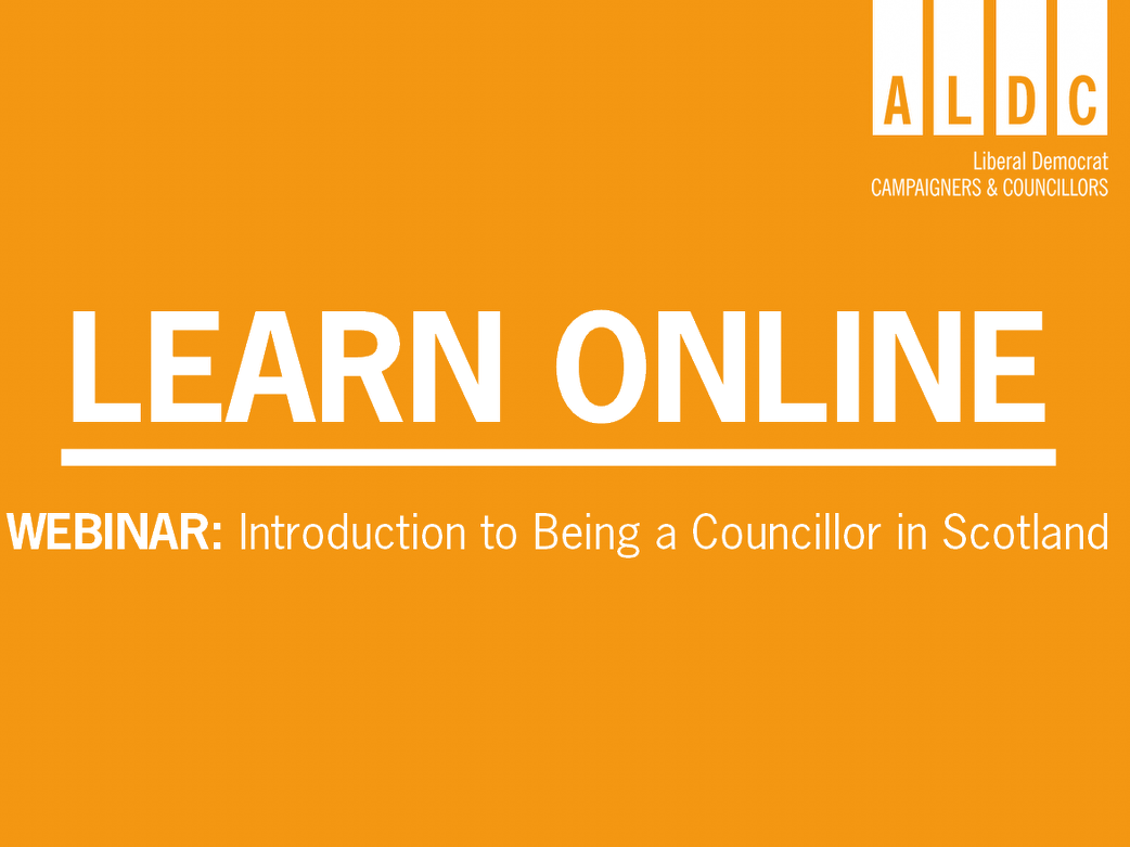 Scottish Webinar – Introduction to being a Councillor in Scotland, 23 June