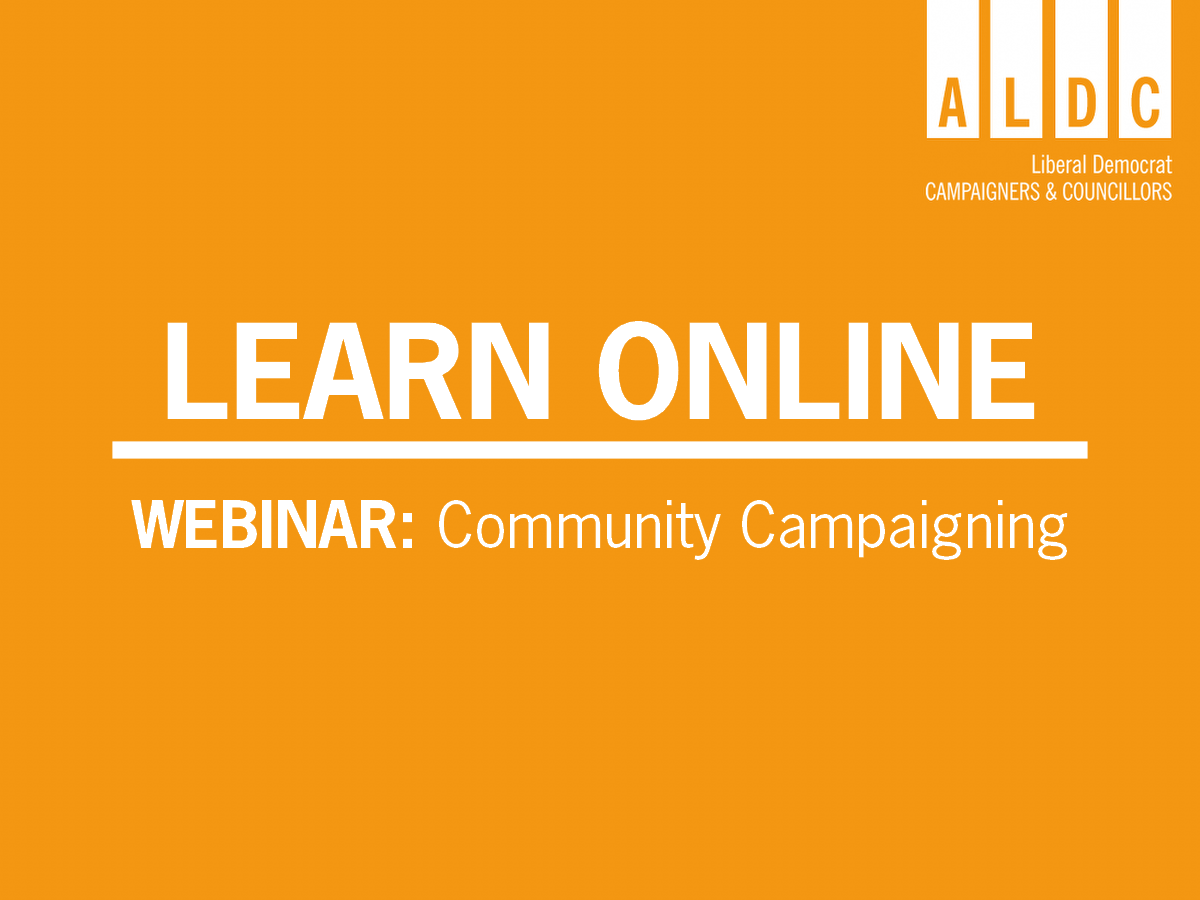 Webinar – Community Campaigning 22 June 2020