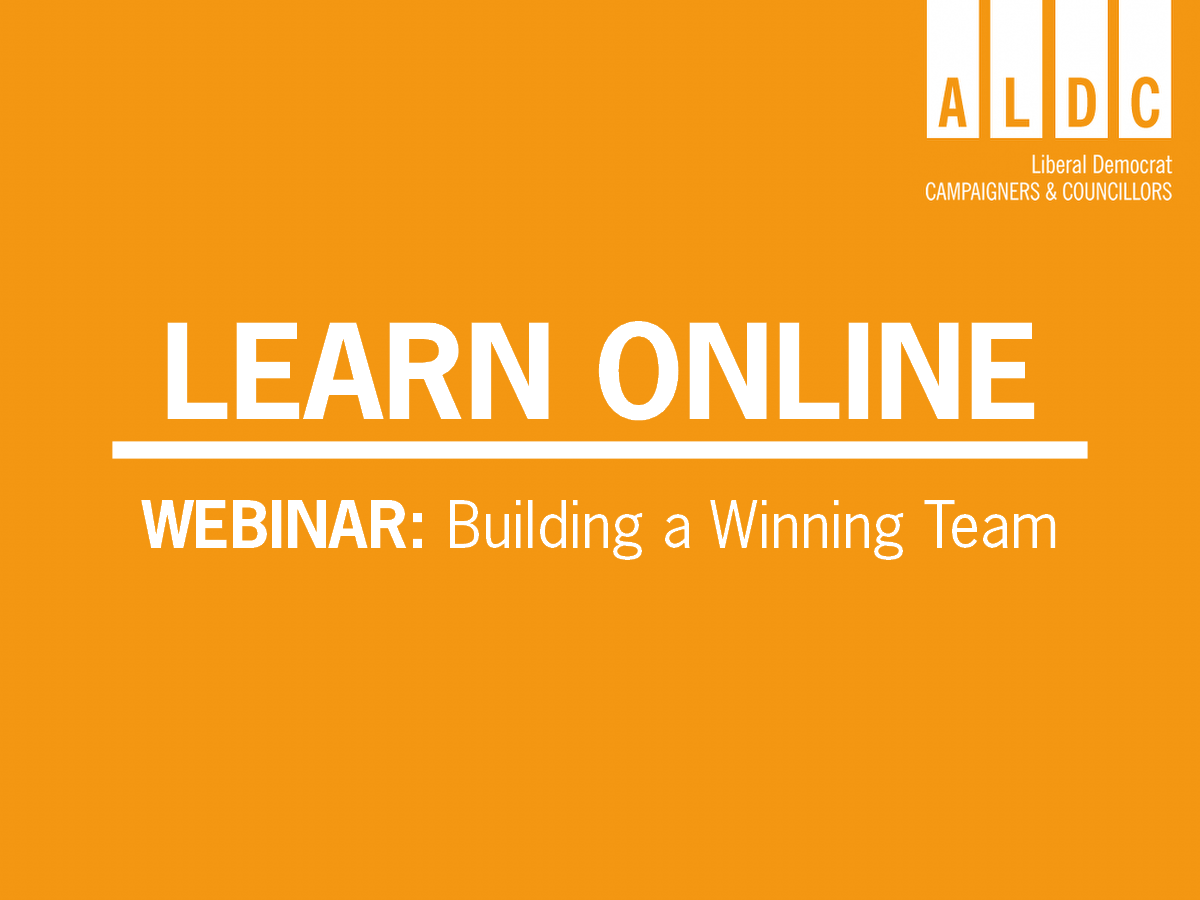 Webinar – Building a Winning Team – Mon 3 Aug 2020