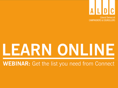 Webinar – Get the list you need from Connect – Monday 19 October 2020
