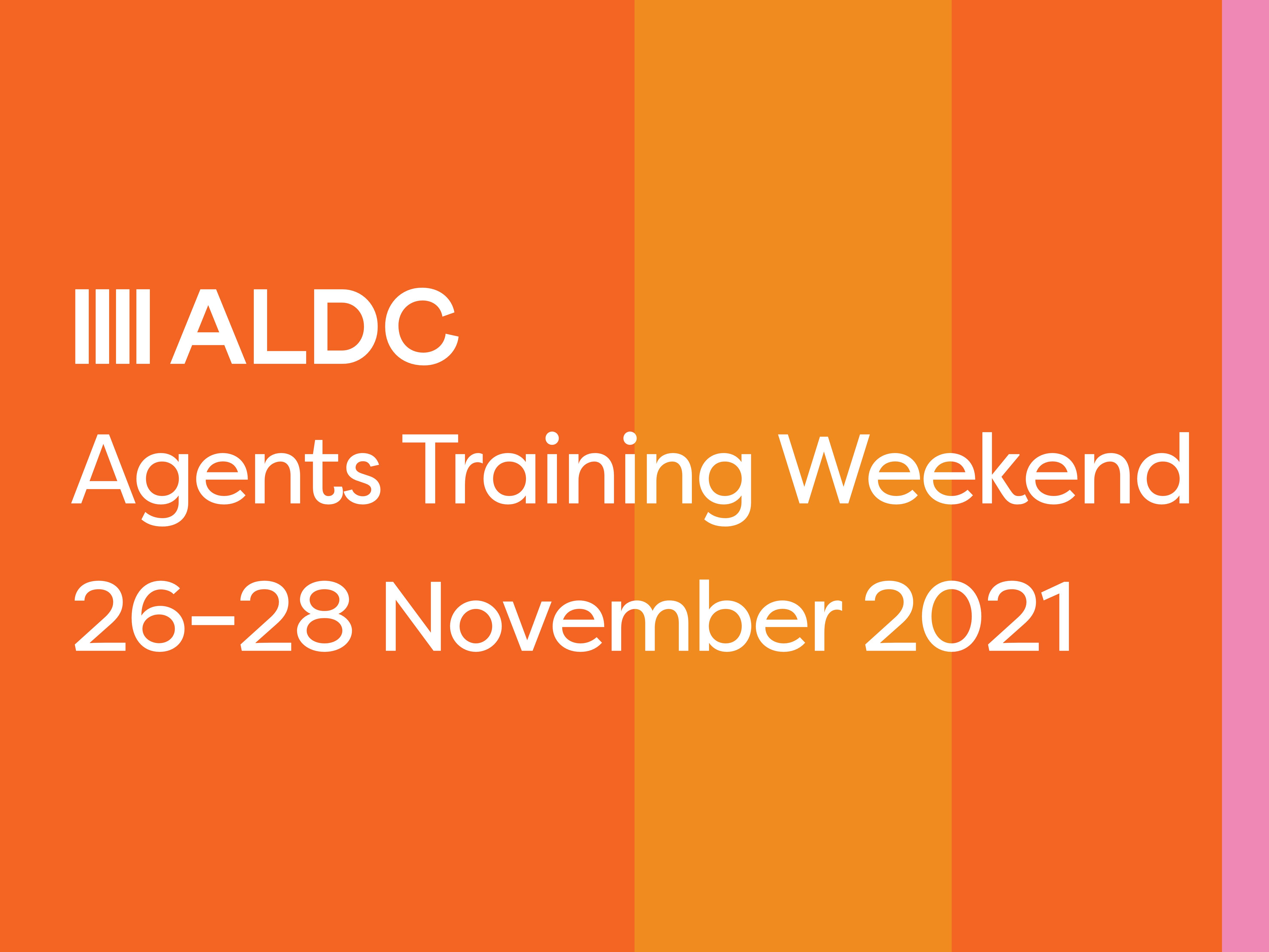 Agents Training Weekend – 26-28 November 2021