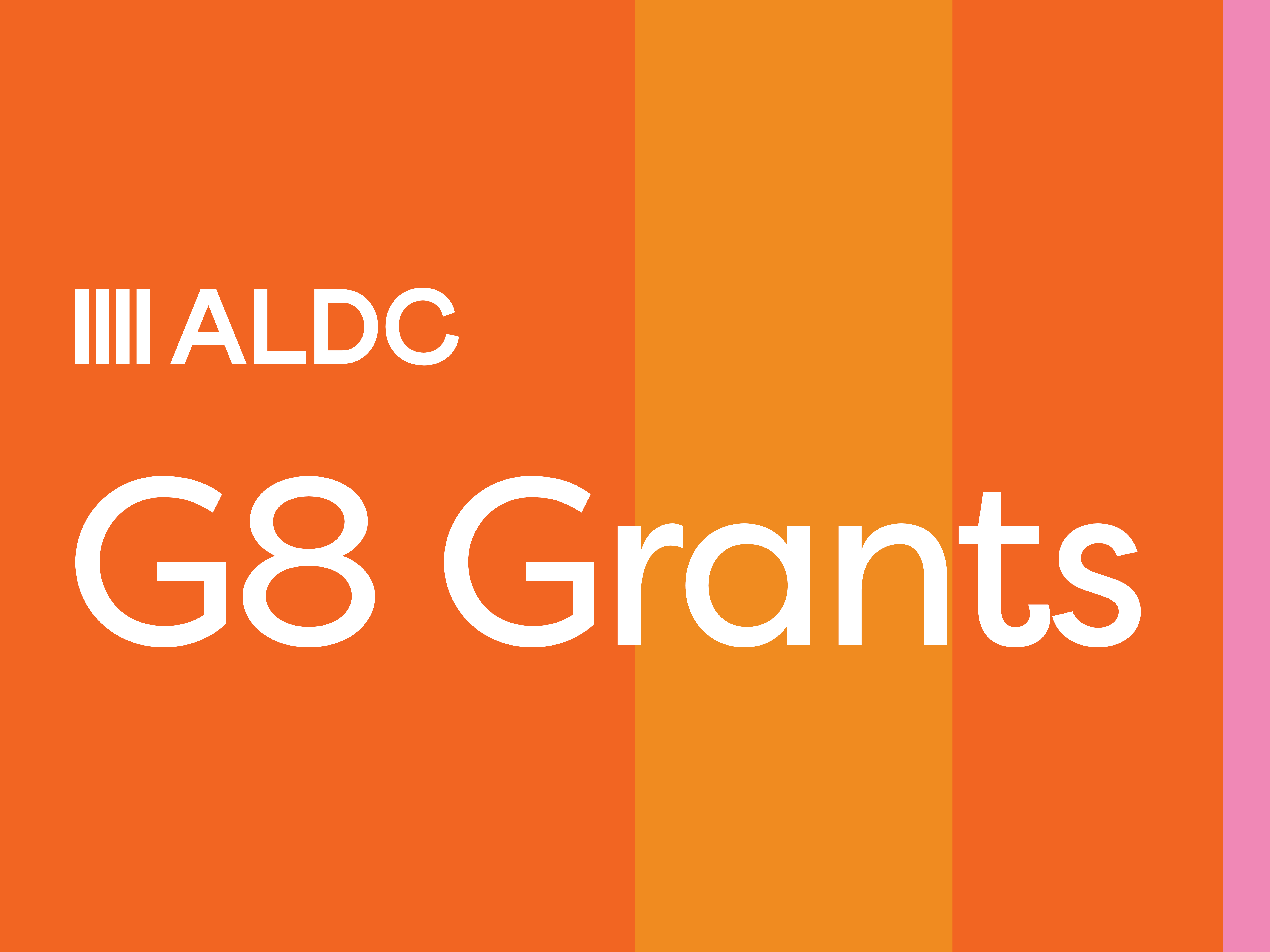 G8 Grants for 2022 Local Elections